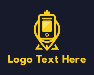 Pin - Yellow Pin Vaping logo design