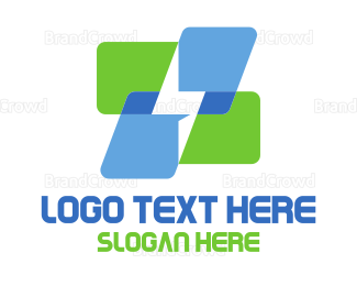 Thunderbolt - Lighting Cubes logo design