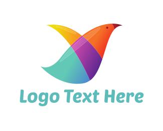 Pigeon - Rainbow Pigeon logo design