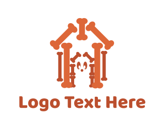 Pet Food - Bone House logo design