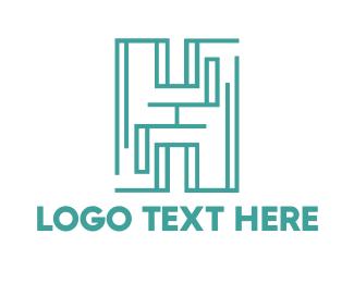 Teal - Teal Maze H logo design