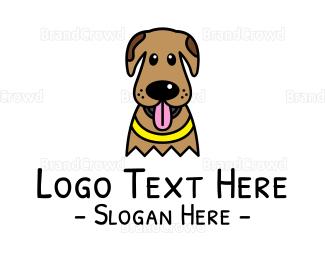Pet Care - Cute Brown Dog logo design