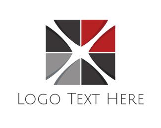 Flooring - Cross Tile logo design