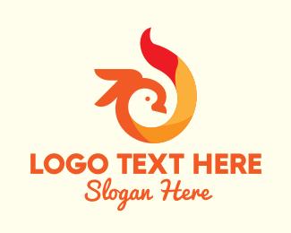 Macaw - Bright Flame Cockatoo logo design