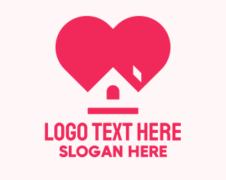Isolation - Pink Stay Home logo design