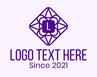 Geometrical - Geometric Diamond Lettermark logo design