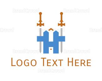 Medieval - Medieval Sword H logo design