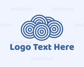 Nappy - Blue Cloud Circles logo design