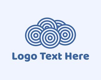 Blue Cloud Circles Logo