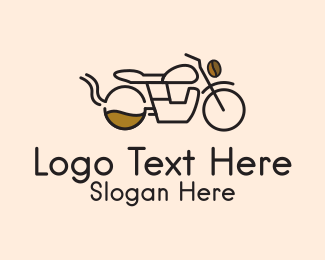 Motorcycle - Coffee Delivery Motorcycle logo design