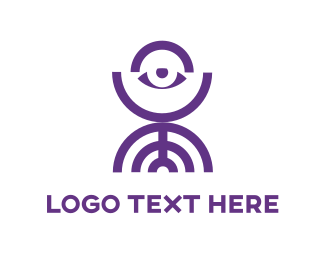 Look - Abstract Purple Eye logo design