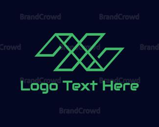 Double - Green Double N  logo design