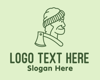 Carpentry - Old Man Lumberjack logo design