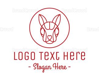 Easter Bunny - Minimalist Rabbit Badge logo design