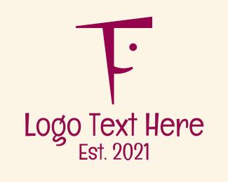 Pedia - Letter F Happy Face logo design