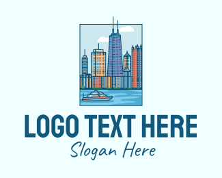 Travel - Chicago River City logo design