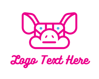Pig - Pig Cloud logo design