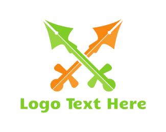 Pen - Pen Swords logo design