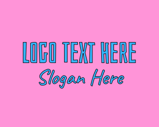 Alternative - Funky Text logo design