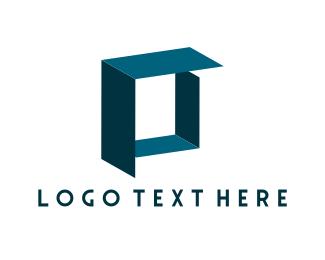 Distribution - Blue Box  logo design