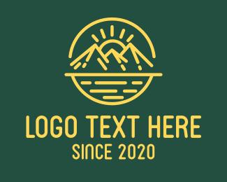 Mountain - Mountain Sun logo design