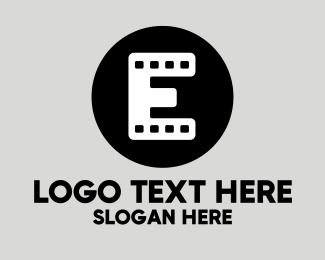 Film Production - Film Strip Letter E logo design