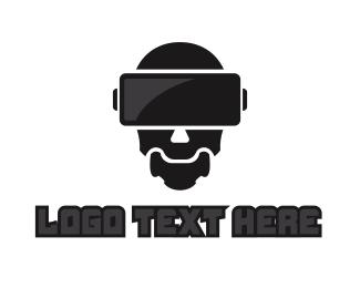 Vr - VR Robot logo design