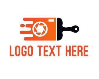Carpentry - Camera Brush logo design