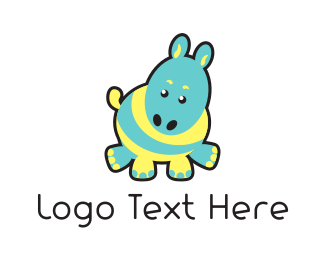Zebra - Cute Donkey logo design