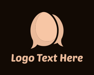 Chatting - Egg Chat logo design