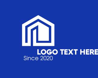 Home Furnishing - White Real Estate Home logo design