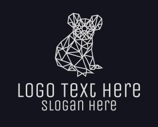 Koala - Simple Koala Line Art logo design