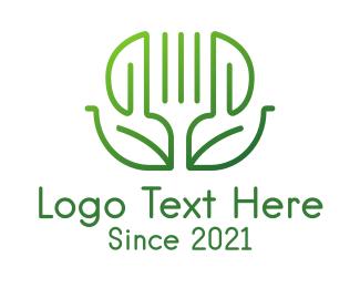 Food - Healthy Vegetarian Restaurant logo design
