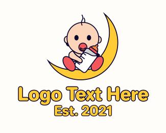Baby - Moon Baby logo design