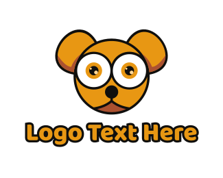 Baby Supplies - Orange Baby Bear logo design