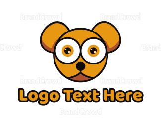 Teddy - Orange Baby Bear logo design