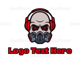 Disc Jockey - Ghoul Headphones logo design