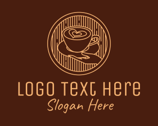 Robusta - Lovely Serving Coffee Cup logo design