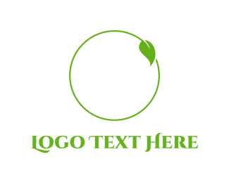 Furnitureinterior Leaf Circle logo design