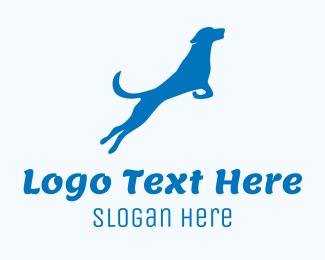 Leap - Blue Dog logo design