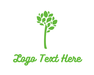 Branch - Green Branch Leaves logo design