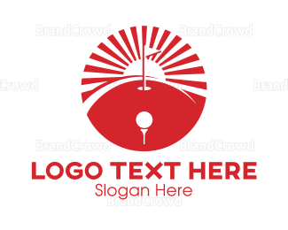 Hole - Red Golf Course logo design