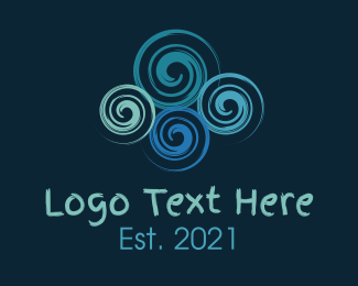 Elastic - Colorful Swirls logo design