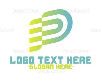 Sound Wave - D Stripe Flag logo design