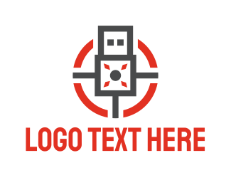 File Transfer - Modern USB logo design