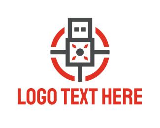 Secret - Modern USB logo design