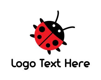 Ladybug - Cute Bug logo design
