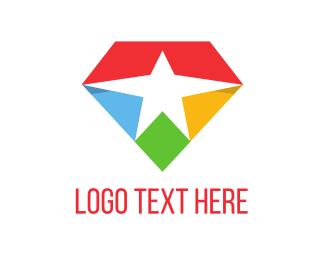 Kaleidoscope - Star Diamond logo design