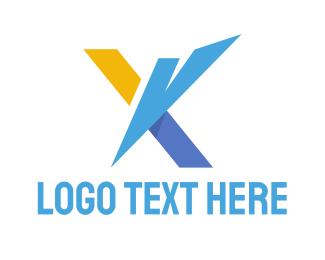 Draftsman - Futuristic X logo design