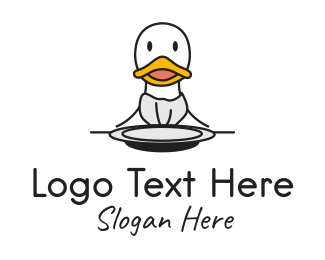 Bird - Duck Diner  logo design